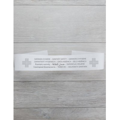 Fascia per sigillo WC carta bianca 5x55 cm