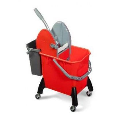 Carrello mop MACTOP50D 18 lt con pressa nylon