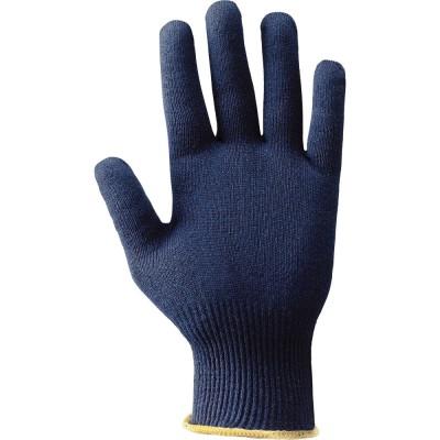 Guanti Thermo-Cool tessuto sintetico blu polso maglia