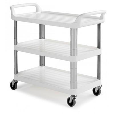 Carrello di servizio Shelf bianco 3 ripiani