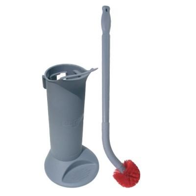 Spazzola per toilette con supporto e testina di ricambio
