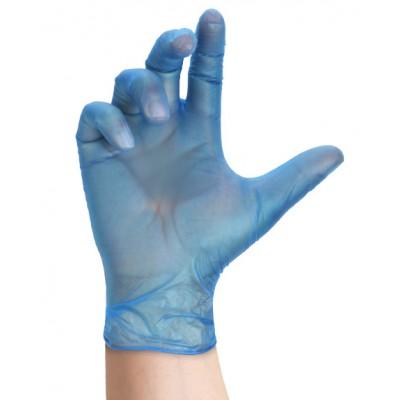Guanti Derma Vinil Blu HACCP senza polvere M