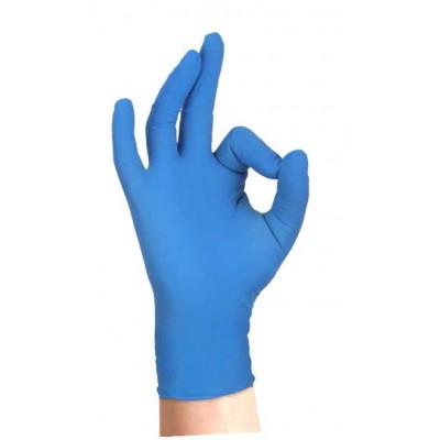Guanti Skin Blu nitrile azzurro senza polvere L