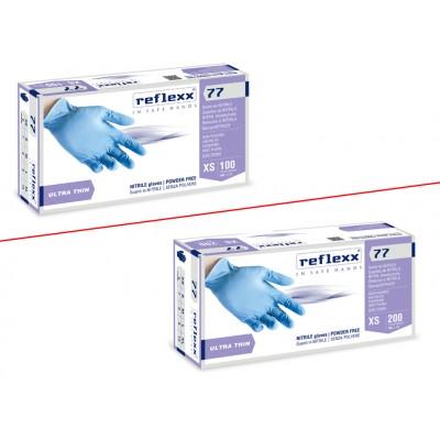 Guanti in nitrile senza polvere gr.3 S box 200 pz.