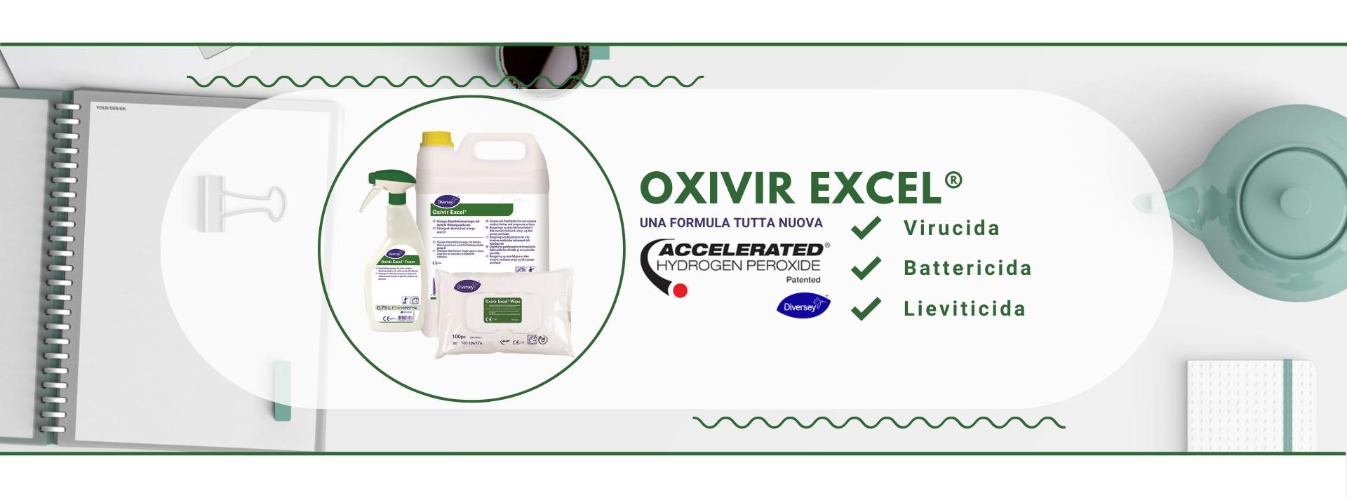Detergenti disinfettanti linea Oxivir a base di perossido di idrogeno accelerato