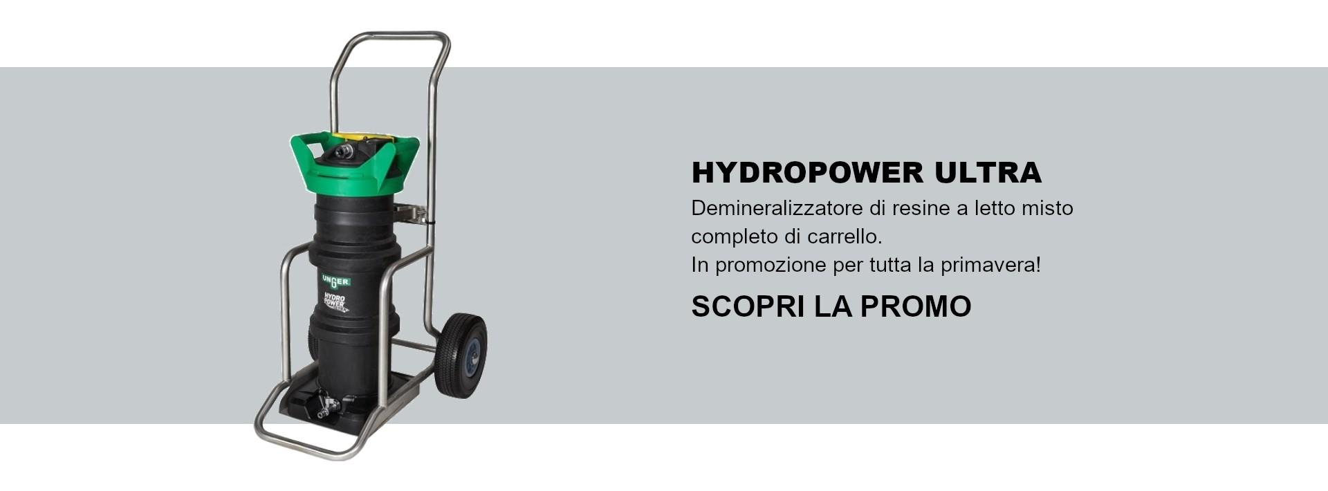 Hydropower Ultra demineralizzatore in promozione per tutta la primavera