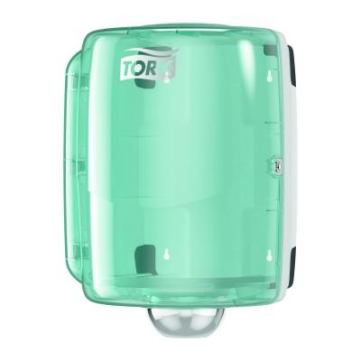 Tork Dispenser ad estrazione centrale Maxi bianco/azzurro
