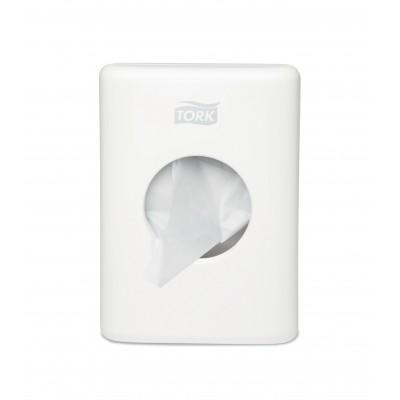 Tork Dispenser per sacchetti sanitari colore bianco