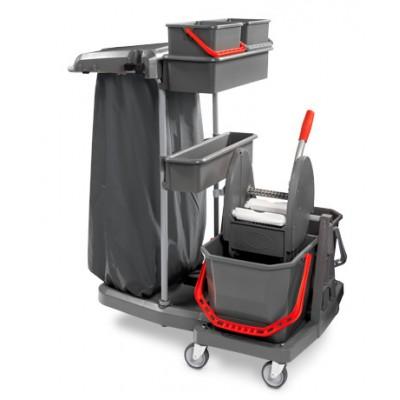 Carrello Ideatop ecogreen 2x20 con pressa mop