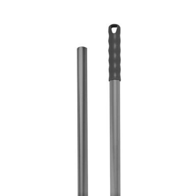 Manico alluminio 140cm con foro, manopola grigia