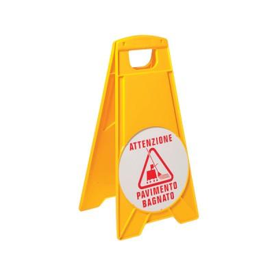 Cartello segnalatore pavimento bagnato